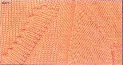 Вязание на машине SILVER REED: Наклонные прорезные карманы