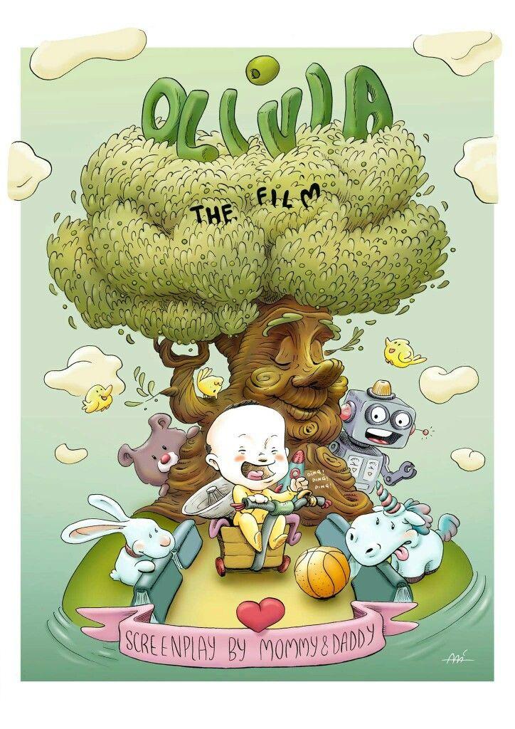 Olivia the film by Ali del Rey Ilustra #alidelreyilustra #olivia #childrenilustration