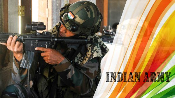 Indian Army Picture with Tiranga Colour -  Fighting terrorist since country gained independence... Pakistan the breading ground of world terrorist & China (a lower class country)