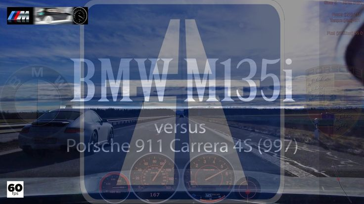 Can a BMW M135i be on the same street as a Porsche? Yes it can! At least on the Autobahn and with the 911 Carrera 4s (997) BMW's and Porsche's extremely oppo...