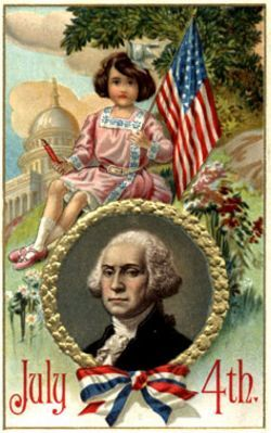 July 4th Vintage Postcard Images and Graphics
