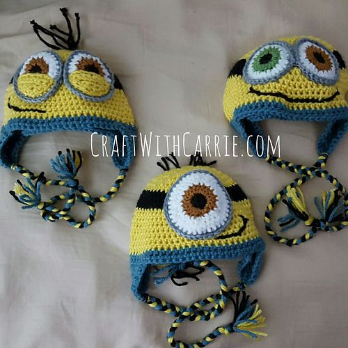 Free Crochet Pattern For Bob The Minion : 1000+ ideas about Crochet Minion Hats on Pinterest ...