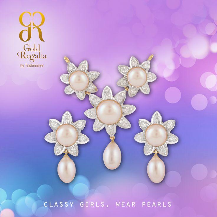 Classy girls, wear pearls : https://goo.gl/XHFBNL #WomensJewelry #ClassyJewelry #DiamondJewelry #PearlEarring #EarringsOnline