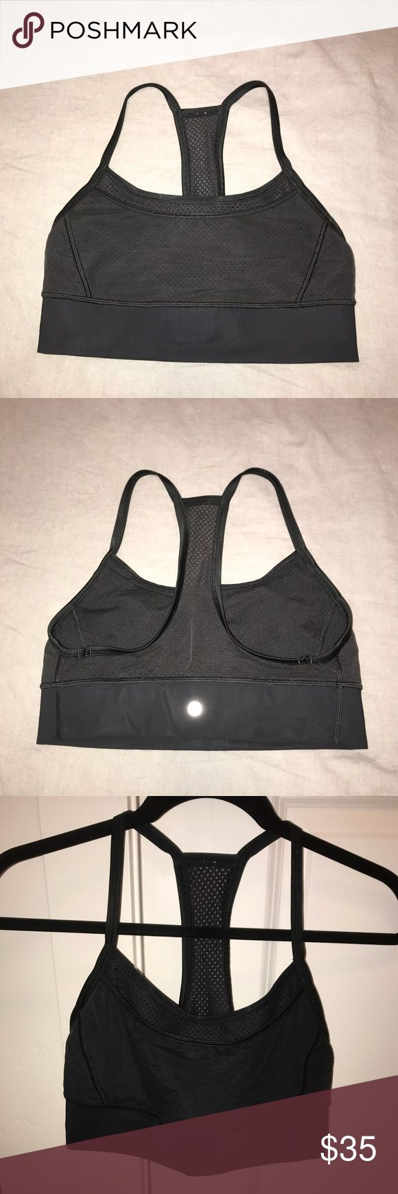 Lululemon Sports Bra Size 8 Dark black size 8! Worn once or twice so there are no flaws except I did remove the tag! Not sure what this style is called, it's no longer for sale online! lululemon athletica Tops