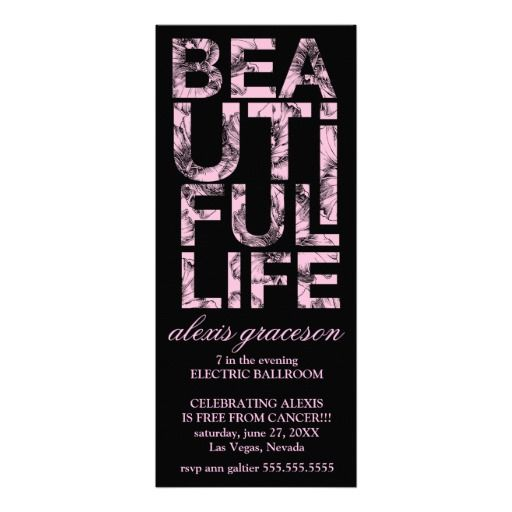 Beautiful Life Cancer Free Party, celebration, cancer free, party , beautiful life ... inspirational