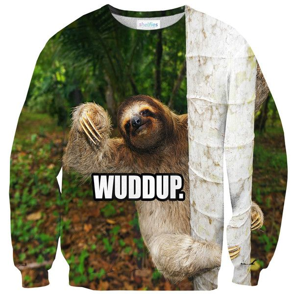 Wuddup Sloth Sweater – Shelfies - Outrageous Clothing