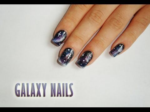Galaxy nails! So easy to do! ☺Tutorial