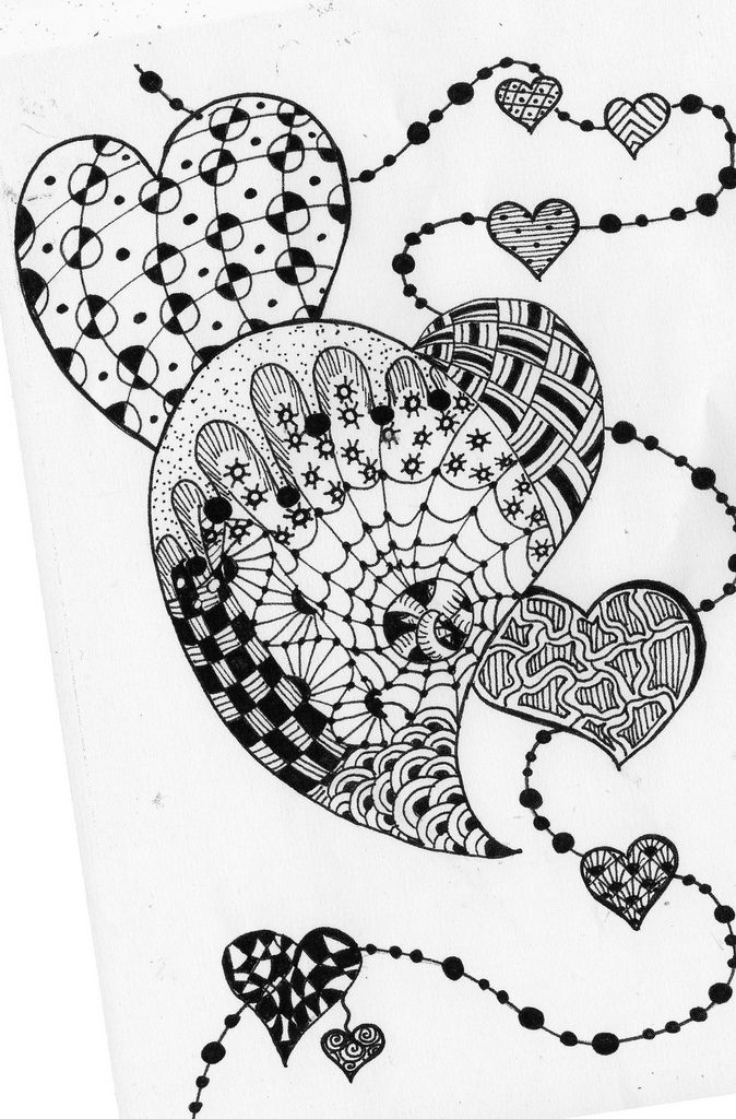 95 Free Coloring Page Heart Zen Magnificient Based On
