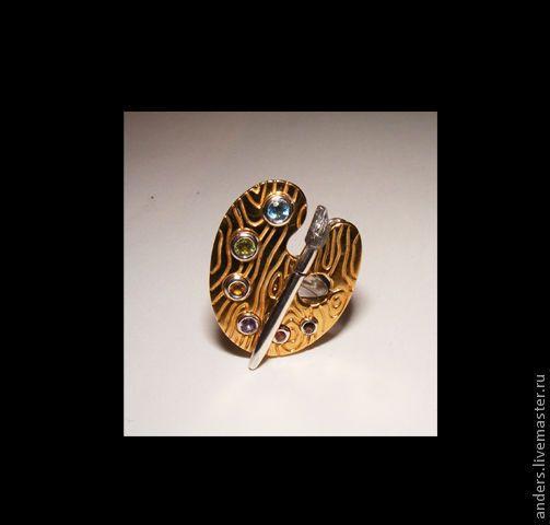 Купить палитра - палитра кулон, палитра кольцо, палитра, золотой, кольцо, кулон, подвеска