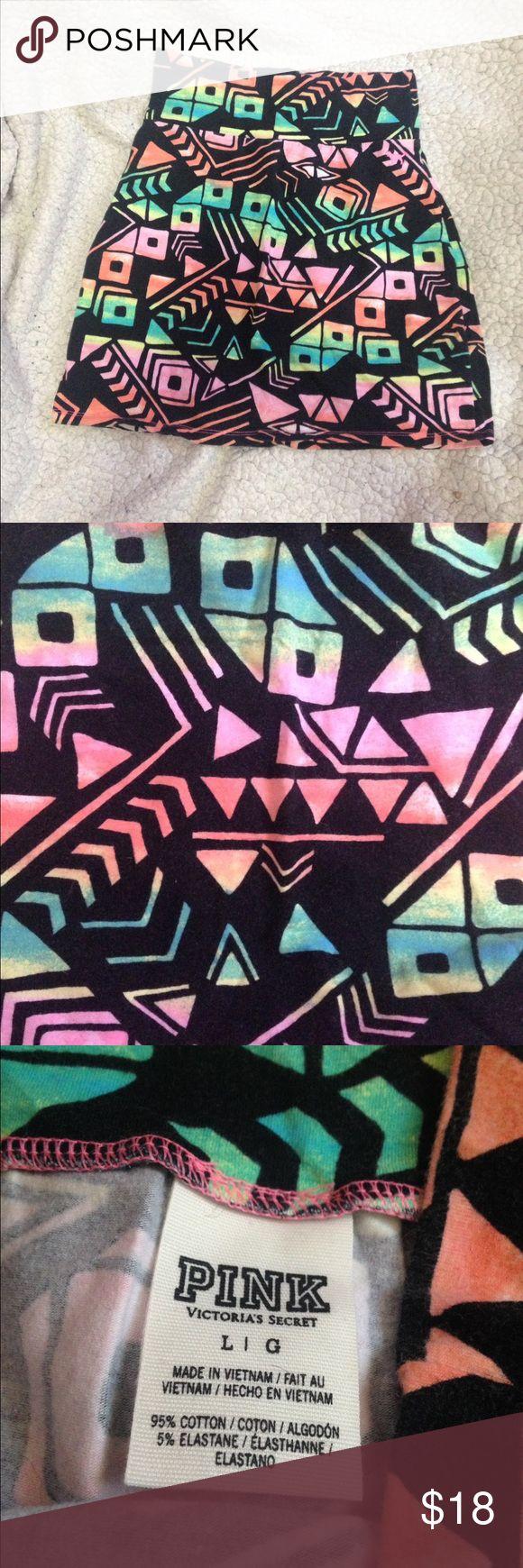 VS PINK Tribal Print Skirt VS PINK tribal print skirt. Only worn a couple times PINK Victoria's Secret Skirts