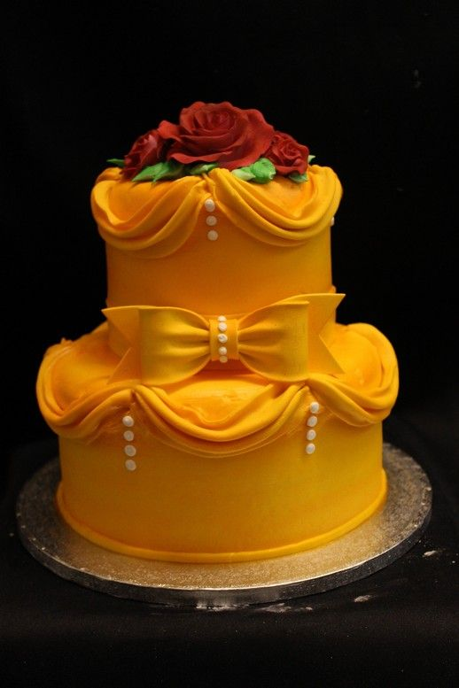 BEAUTY & THE BEAST CAKE