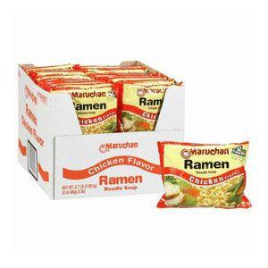 Maruchan Ramen Noodle Soup Chicken Flavor 3 oz 36 Pack Cooks in 3 Minutes