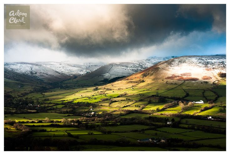 Edale Valley. English Landscape Photography, Derbyshire, United Kingdom. Fine Art Print. by AdamClarkPhotography on Etsy https://www.etsy.com/uk/listing/176473929/edale-valley-english-landscape
