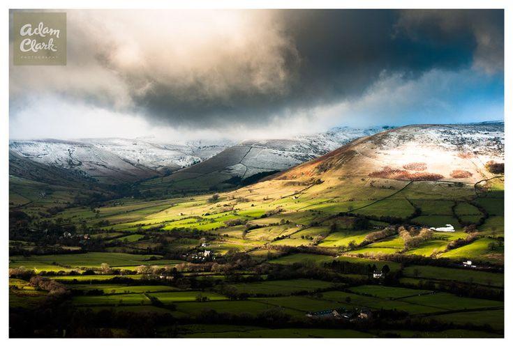 Edale Valley. English Landscape Photography, Derbyshire, United Kingdom. Fine Art Print. by AdamClarkPhotography on Etsy https://www.etsy.com/uk/listing/176473929/edale-valley-english-landscape