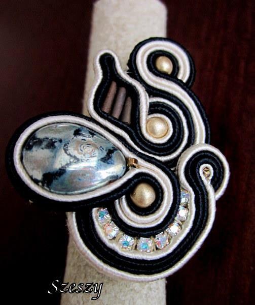 SOUTACHE ring Handmade soutache ring