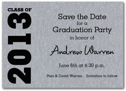 Graduation Save The Date Cards: Graduation Save the Date
