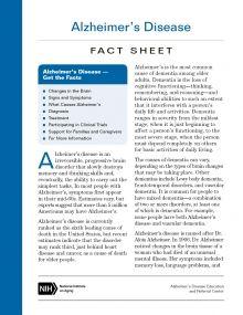 Alzheimer's Disease Fact Sheet | National Institute on Aging