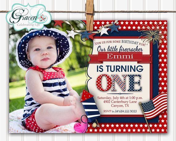 Celebrate your babys 1st Birthday in style with this cute custom photo card! This listing is for a digital print-yourself card or printed