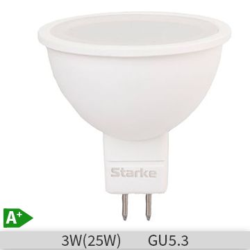 Bec LED STARKE Plus forma spot 3W-25W, GU5.3, 30000 ore, lumina neutra 4000K
