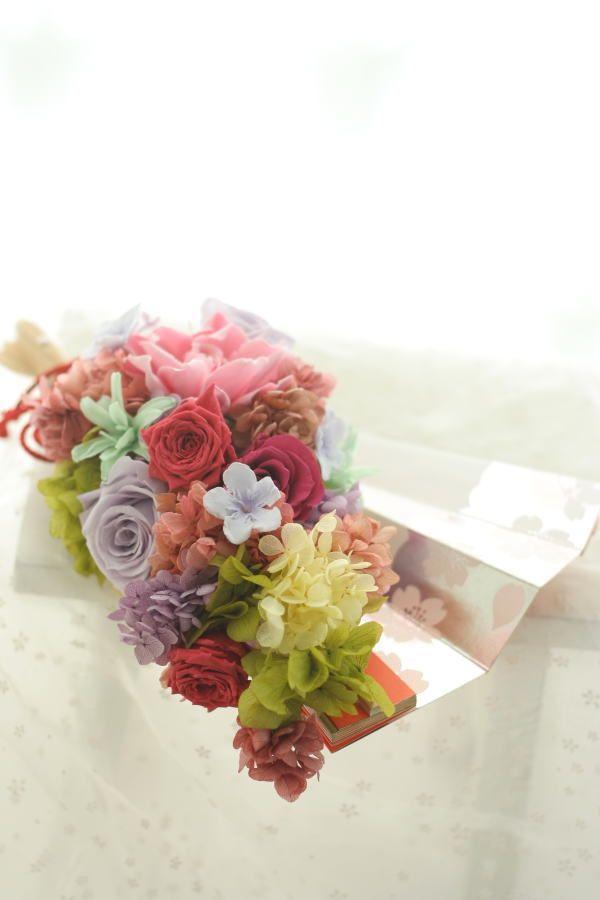 おばあさまへ 扇の花のギフト