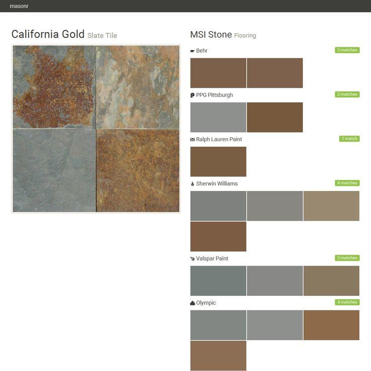 California Gold Slate Tile Flooring Msi Stone Behr