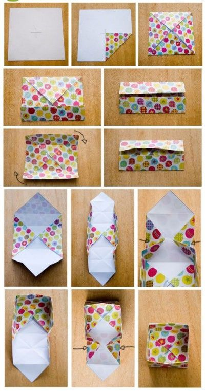 DIY - Des petites boîtes de rangement en origami