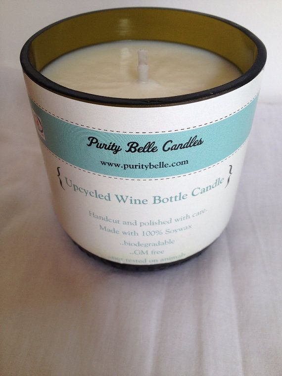Wine Bottle Candle Upcycled 'Amazonia' LIMITED EDITION fragrance on Etsy, €18.50