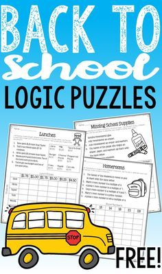 FREE Back to School Math Logic Puzzles: Start your school year testing out your…