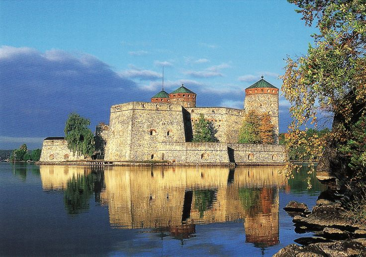 Olavinlinna Castle, photo Tommi Pitkänen. Erik Axelsson Tott began the construction of this castle in 1475 to protect the Savo region. The history of Olavinlinna Castle is one of medieval sword fighting, roaring cannons and everyday chores.