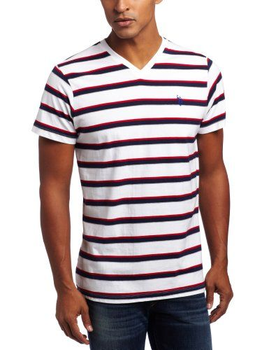 U.S. Polo Assn. Men`s Striped T-Shirt with Three Contrasting Colors - List price: $34.00 Price: $17.99 + Free Shipping