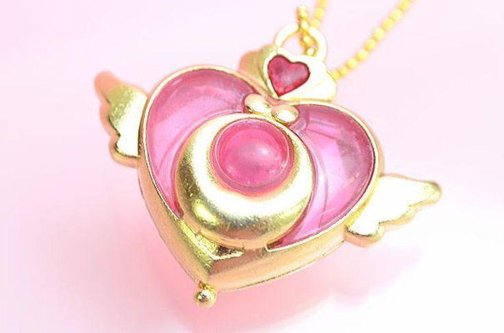 Bandai Bishoujo Senshi Sailor Moon Die-Cast Charm Keychain Crisis Moon Compact