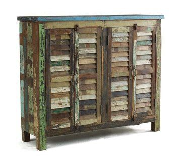 Recycled shutter cabinet...rustic!