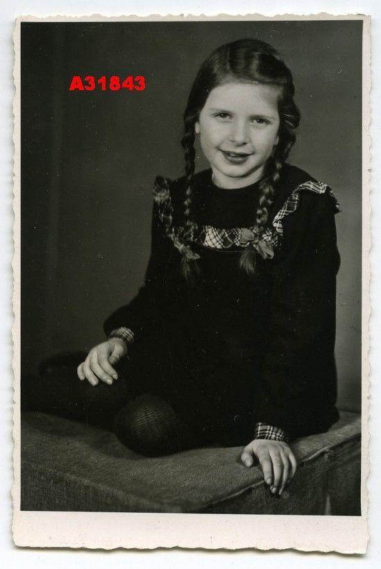 1940s винтажные фото красивая девушка с пигтейлом | eBay