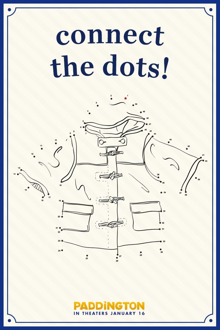 Paddington needs your help! Can you connect the dots to complete the picture? | Paddington