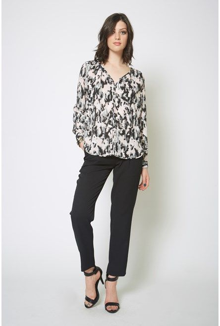 Shop for Abstract Print Button Top - SALE - Max Shop
