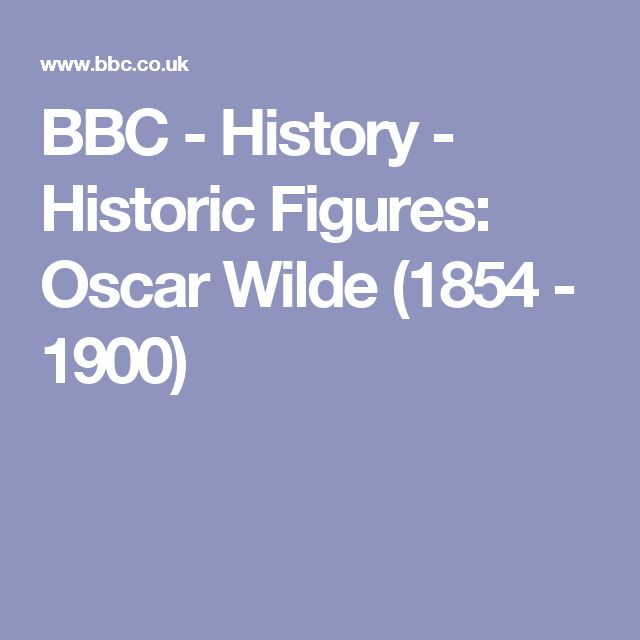 BBC - History - Historic Figures: Oscar Wilde (1854 - 1900)