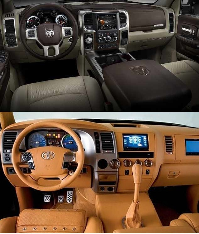 2018 Dodge Durango Interior: 2018 Toyota Tundra Vs Dodge RAM 1500 Interior