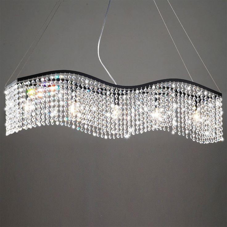 Designer Modern Crystal Chandelier Wave Light Fixture