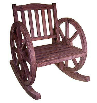 rocker wagon rocker shabby wheel rocking wheel decor chic chair wooden ...