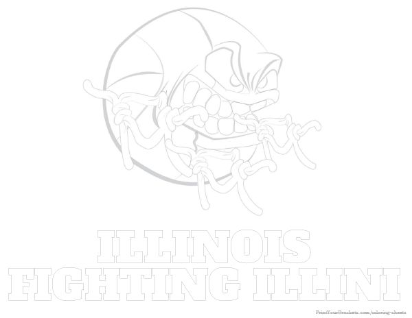 illini coloring pages - photo#8