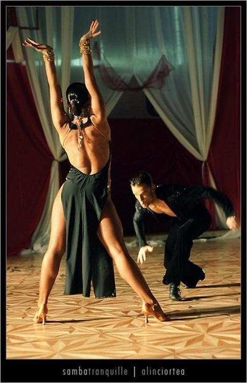 Ballroom Dance Latin - great stretch line and hands