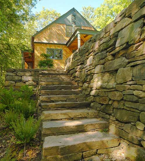 17 best images about stone walling on pinterest raised beds landscaping and andy goldsworthy - Building river stone walls with mortar sobriety and elegance ...
