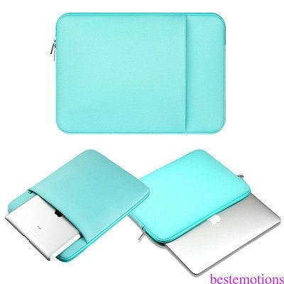 """Laptop Sleeve Notebook Case Bag For MacBook Air/Pro 15.6"""" HP Dell PC Blue"""