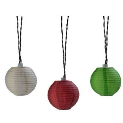 Southwire Moonrays 91104 Plug-In Led Oriental Lantern String Lights, Cinnamon (Red)/Sage/Cream