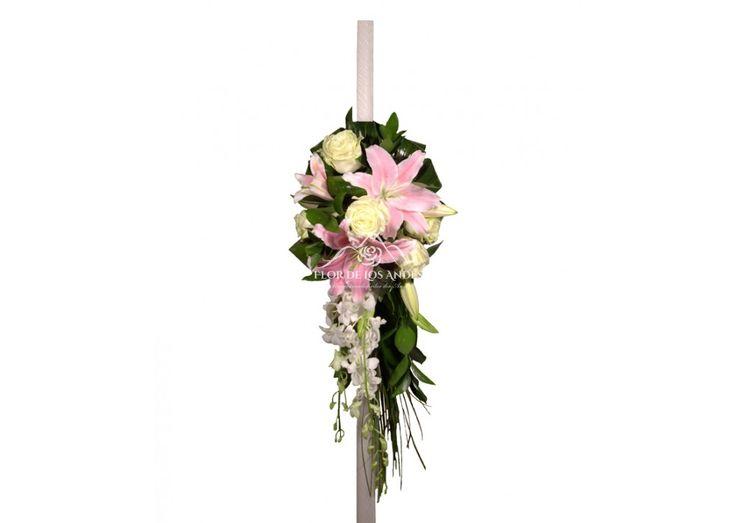 Lumanari de nunta trandafiri si crini