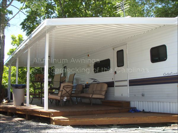 Camper Decks Ideas Rv Camper Awnings Creative Ideas
