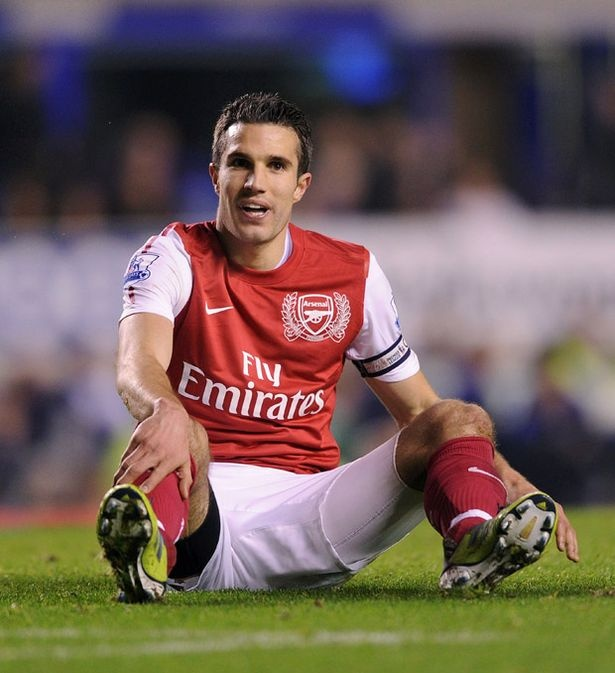 Severed ties: Robin van Persie's statement has alienated him from Arsenal's fans as well as the club