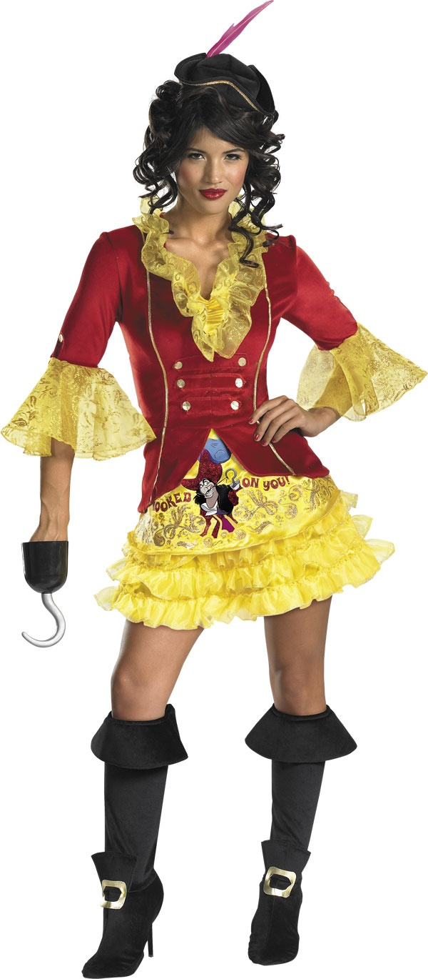 Womens Sassy Captain Hook Costume - Disney Pirate Costumes