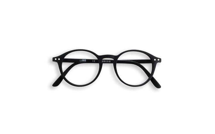 Black round frame reading glasses