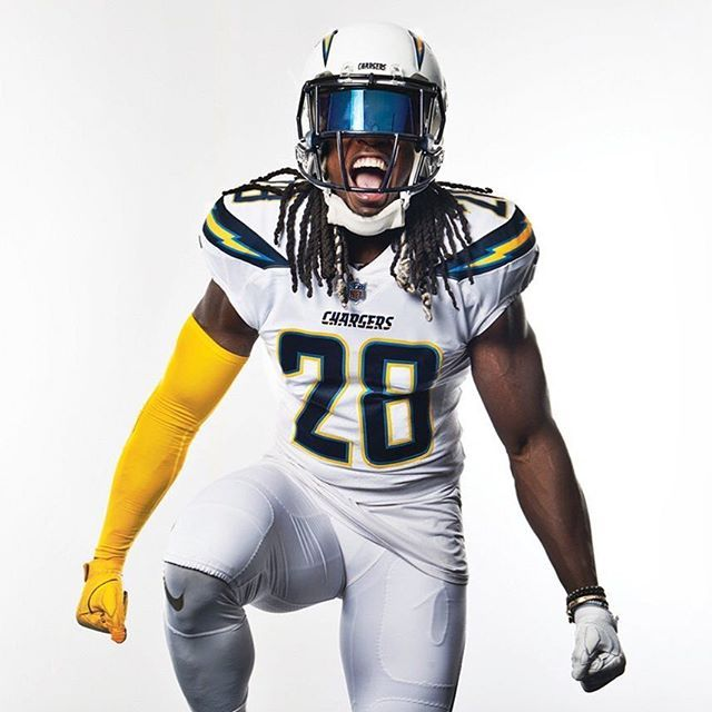 Los Angeles Chargers All White Uniforms Sports Photography Football Football Uniforms